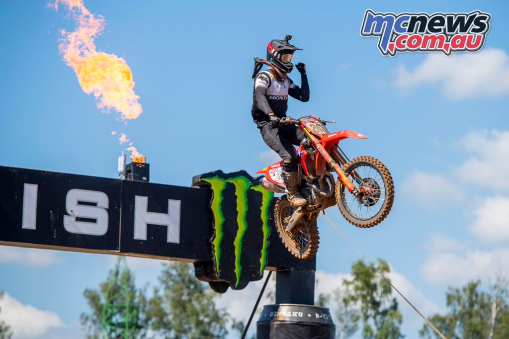 Tim Gajser claims the MXGP of Latvia Race 1 win