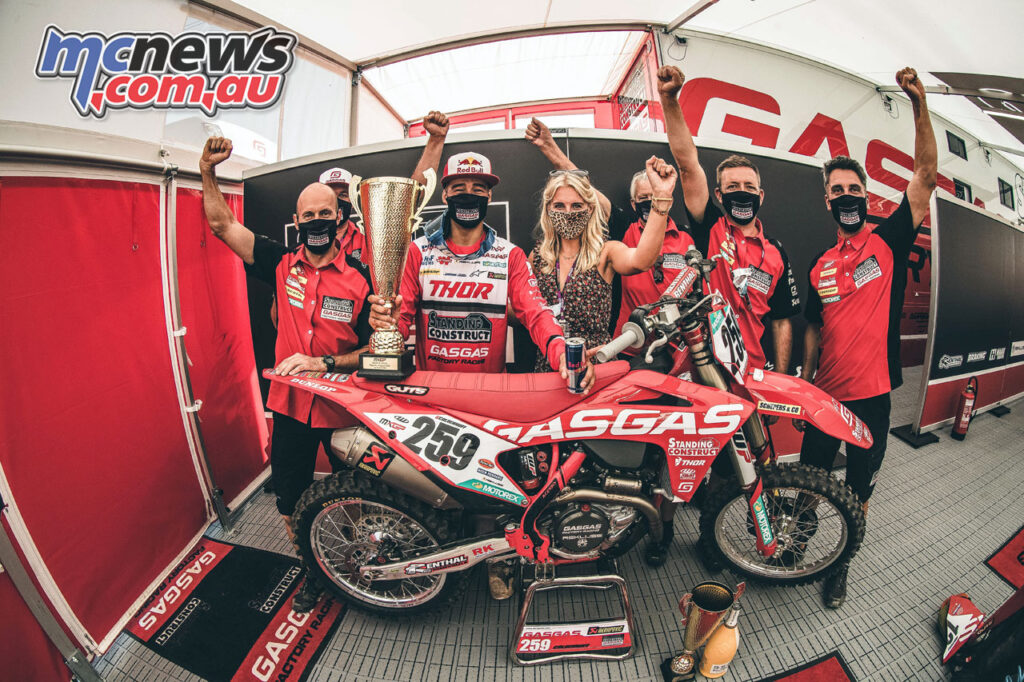 Glenn Coldenhoff claims the MXGP of Latvia win for Gas Gas