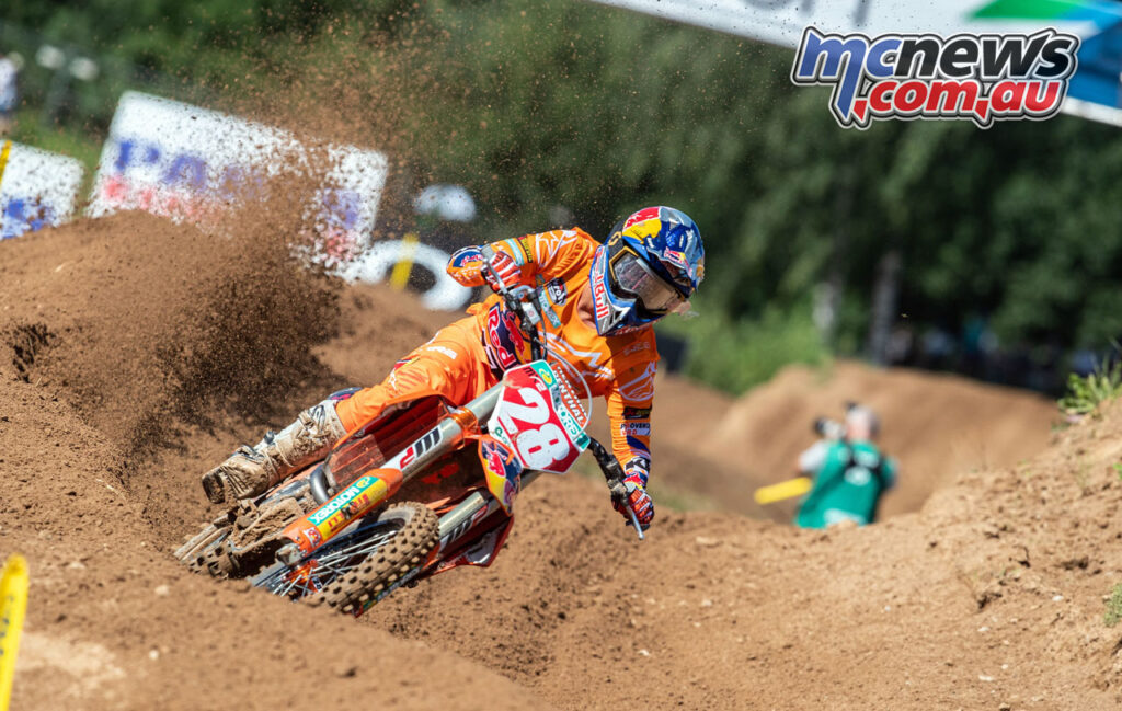 Tom Vialle once again took the holeshot - 2020 MXGP of Latvia