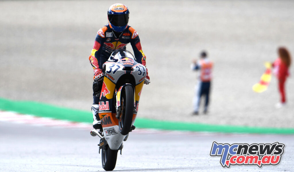 Pedro Acosta claimed the Race 1 win - Red Bull MotoGP Rookies