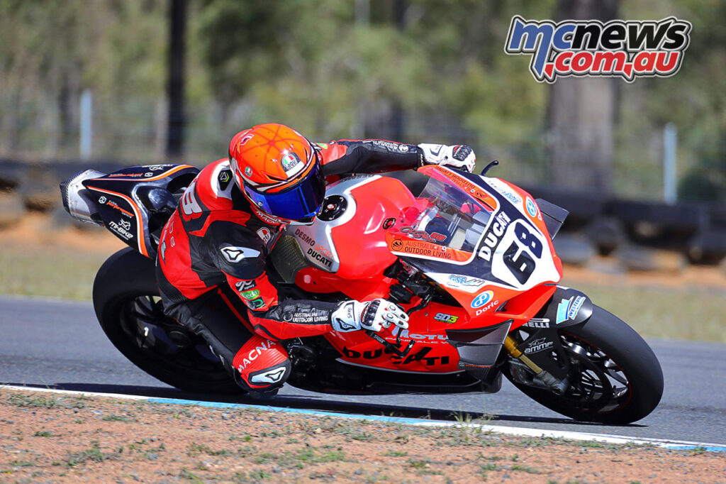 Oli Bayliss on the DesmoSport Ducati V4R