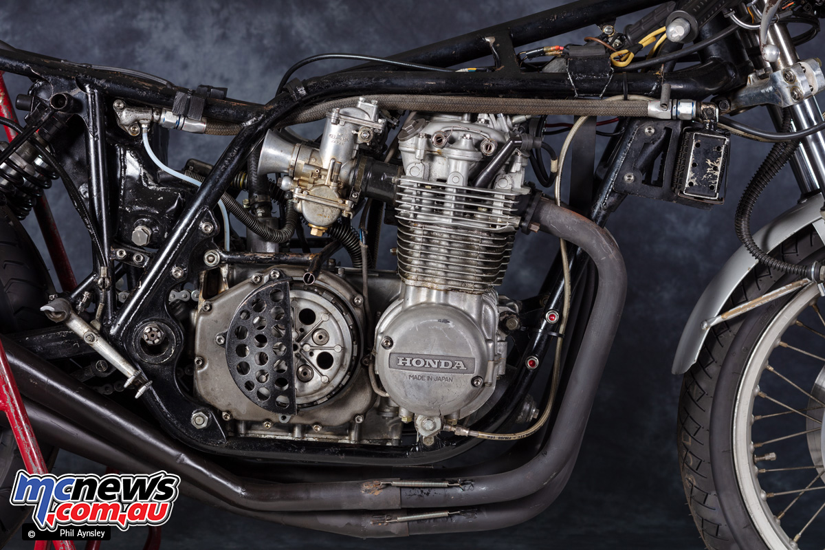 The CB500R featured CR750 carbs