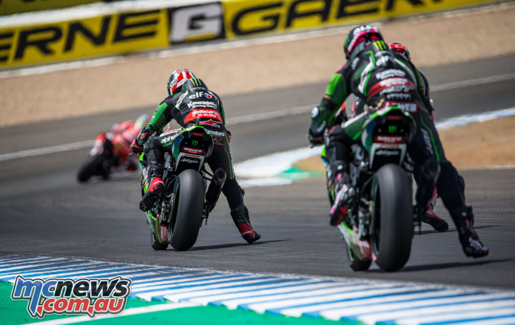 Despite a dominant Superpole Race performance, Rea was regulated to sixth in Race 2