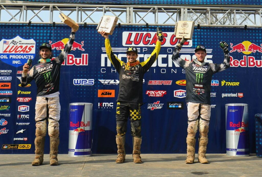Redbud II 250 Podium 1. RJ Hampshire (2-3) 42-points 2. Dylan Ferrandis (5-2) 38-points 3. Shane McElrath (1-10) 36-points