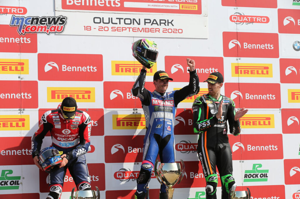 Jason O'Halloran claimed the Race 2 win