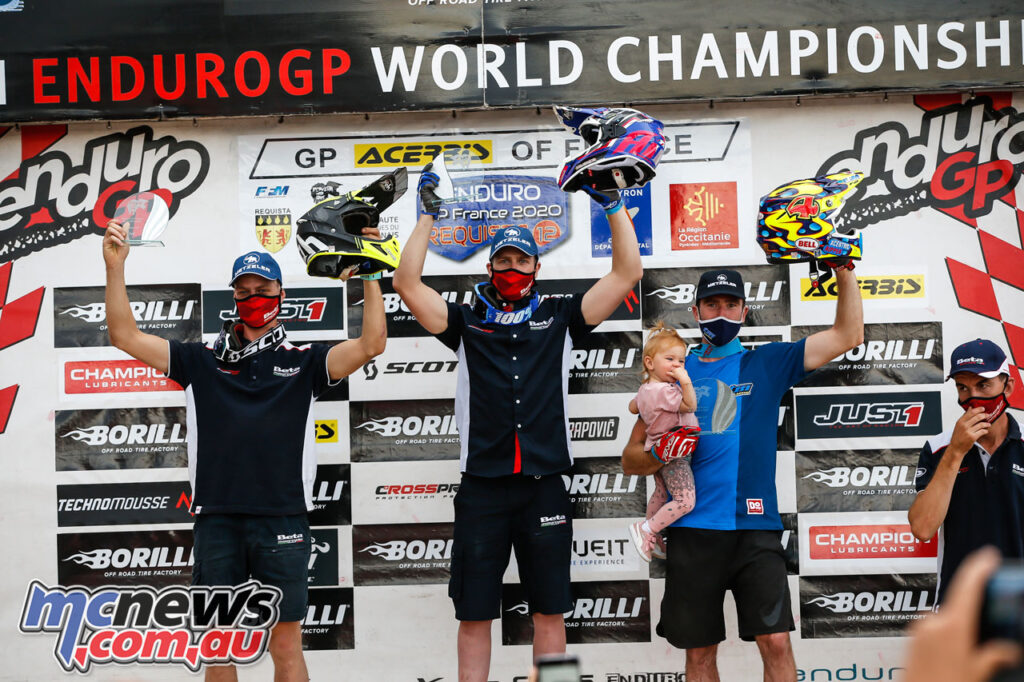 EnduroGP Day 1 Podium -