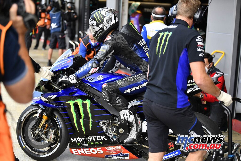 On pole in the last two races, Maverick Viñales is fifth, which is the third time this year he's failed to take a front row start.