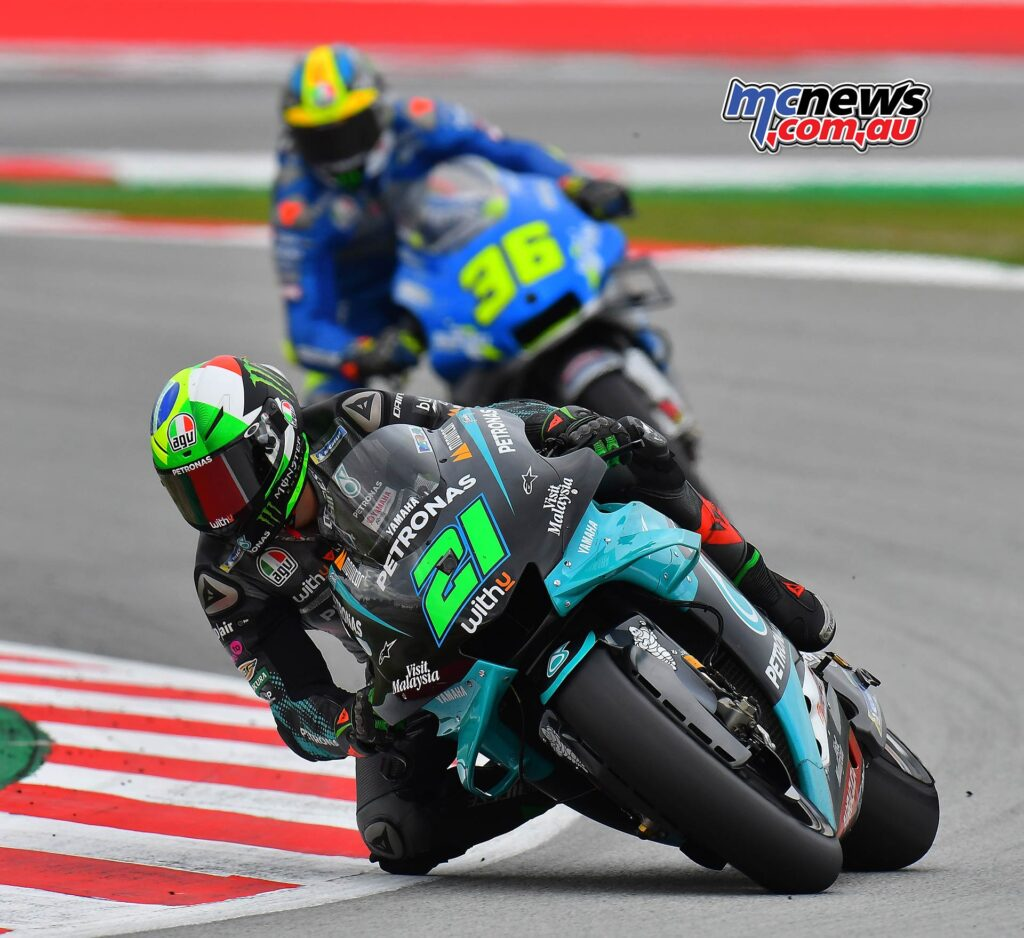Joan Mir passed Miller, Rossi fell and then the Suzuki man honed in on Morbidelli