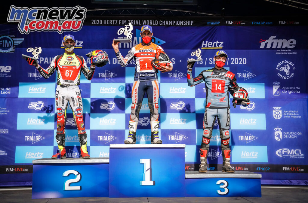 Toni Bou topped the podium from