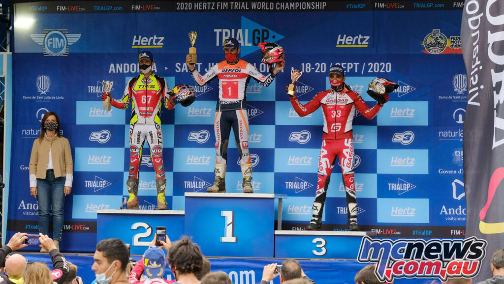 Toni Bou topped the Day 2 podium over