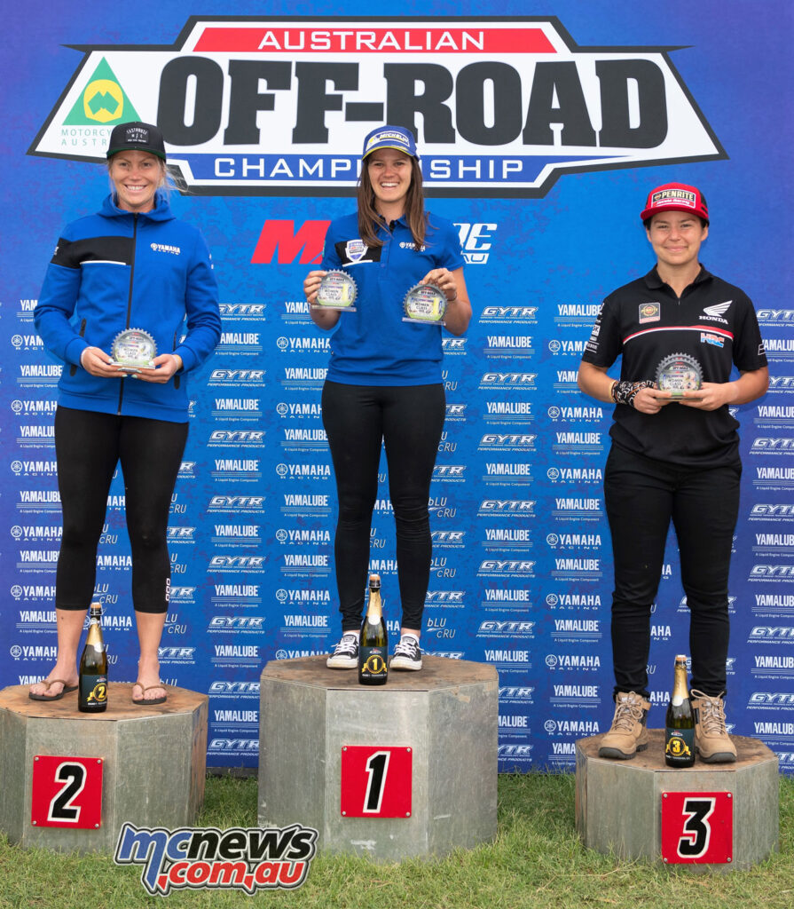 Jessica Gardiner won the women's class from Emelie Karlsson and Emma Milesevic