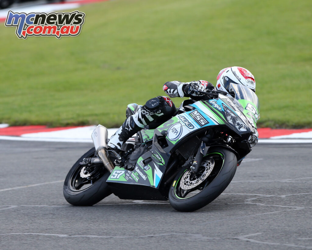 Seth Crump crashed out of race 1
