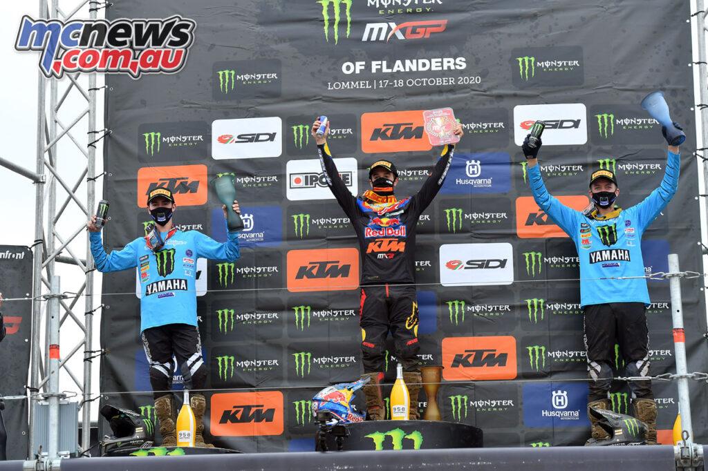 Tom Vialle tops the MX2 podium