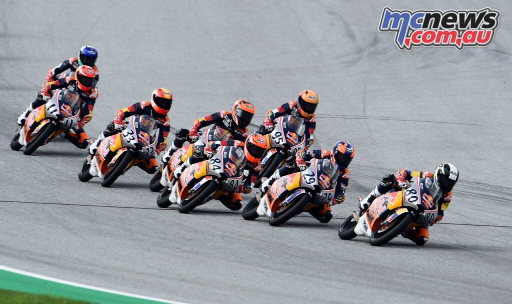 Billy Van Eerde returned to the track at the MotoGP Rookies Aragon round
