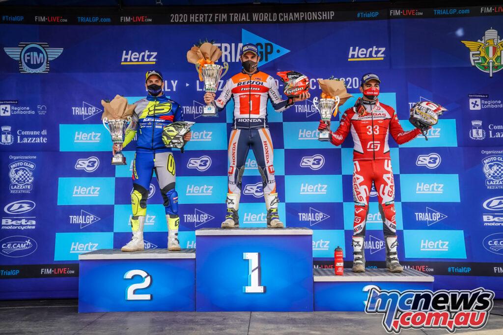 Toni Bou topped the Round 8 podium