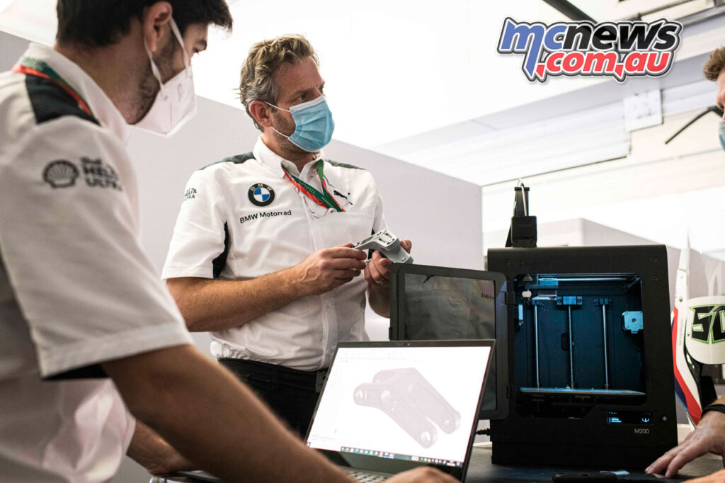 The BMW Motorrad WorldSBK Team can have components printed on the day