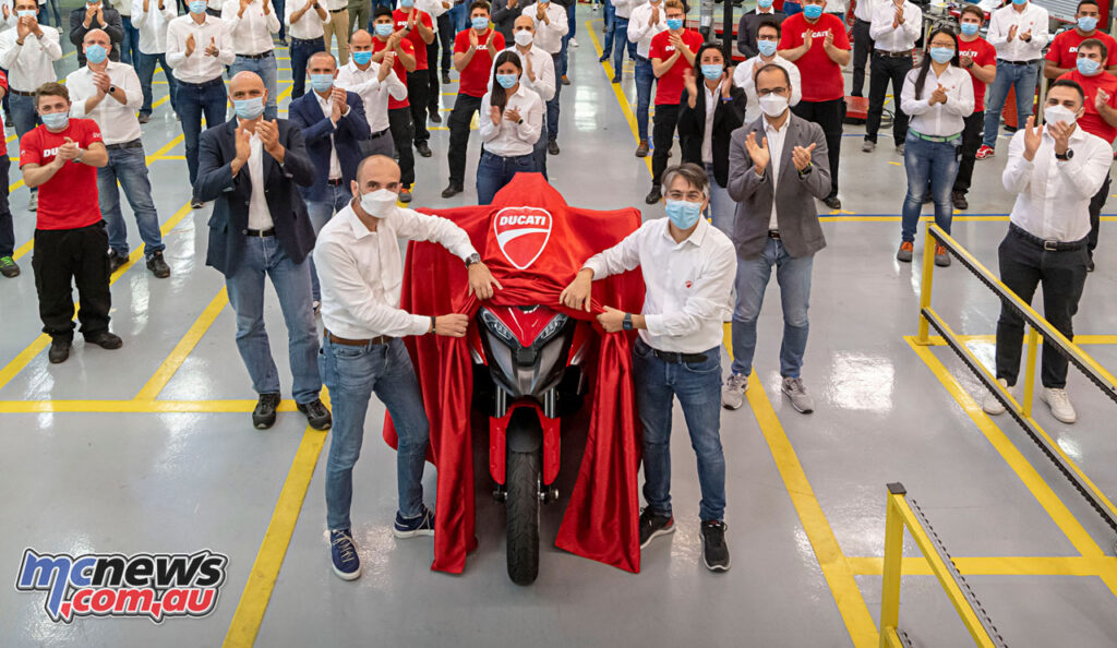 First glimpse of Ducati's soon to be unveiled Multistrada V4