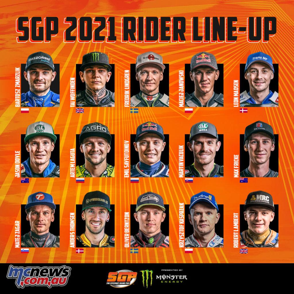 The 2021 Speedway GP rider line-up