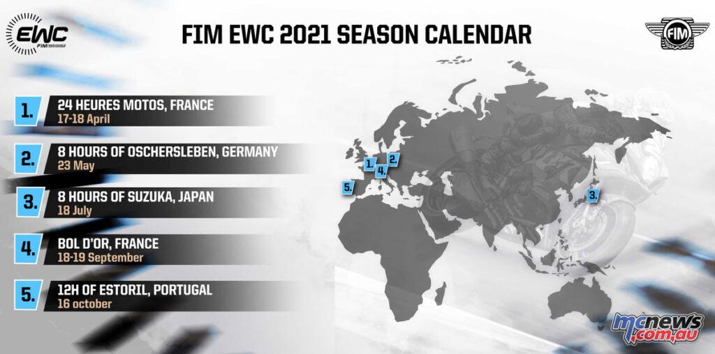 2021 FIM EWC Provisional Calendar
