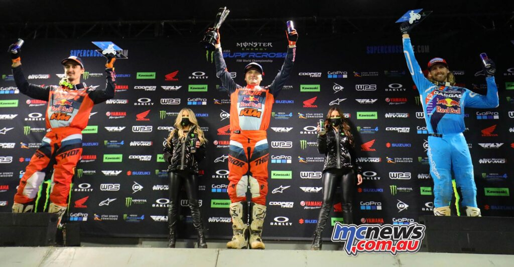 Cooper Webb topped the 450 podium - Image Jeff Kardas