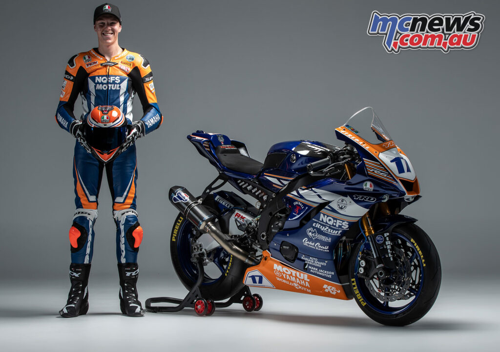 Broc Pearson and his 600cc Supersport YZF-R6