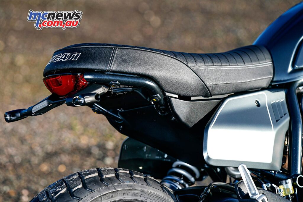 The Scrambler Nightshift is also ready for a host of genuine Ducati accessories for further customisation