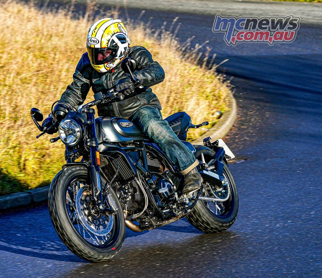 The Ducati Scrambler Nightshift offers accessible, sprightly and fun riding
