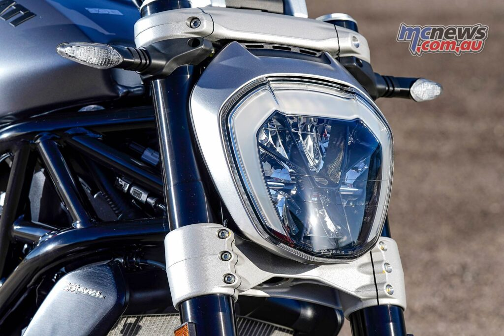 A DRL headlight is part of the XDiavel package