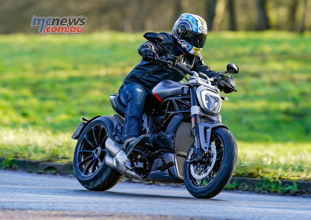 Power is just shy of 160 hp on the XDiavel Black Star