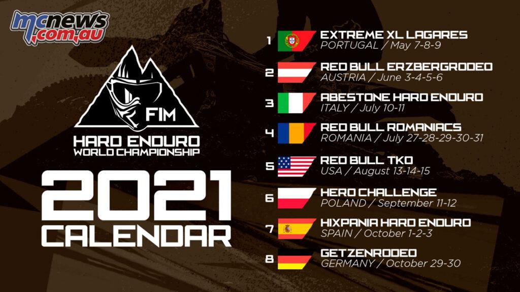 2021 FIM Hard Enduro World Championship calendar