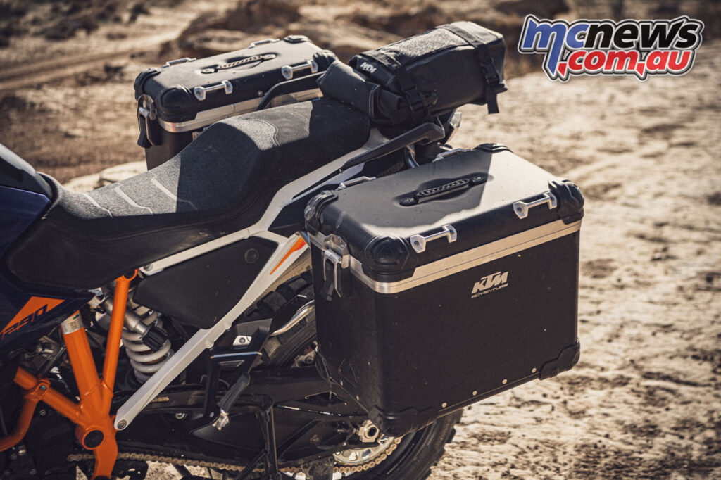 There's plenty of luggage potential via KTM accessories