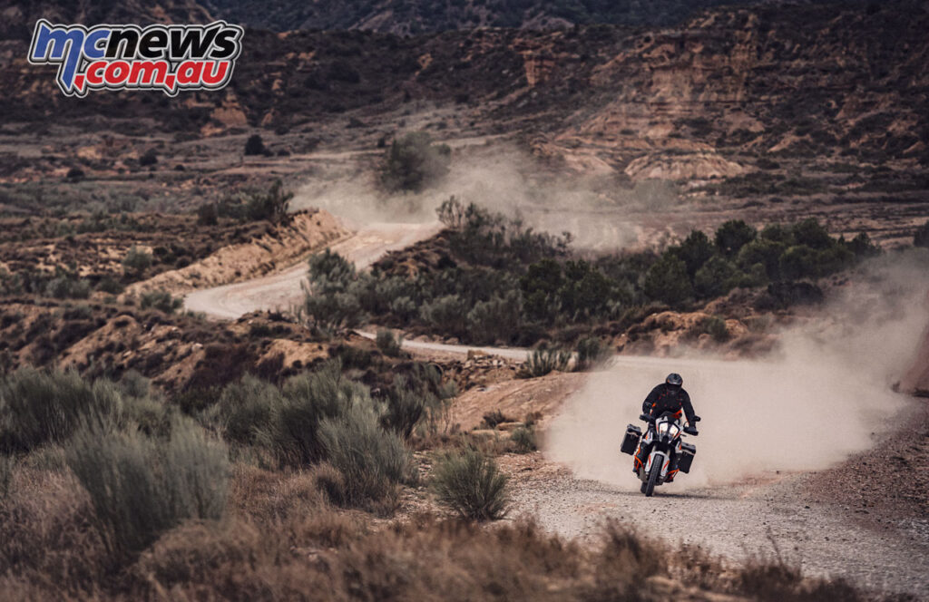 The 2021 KTM 1290 Super Adventure R also features a new IMU