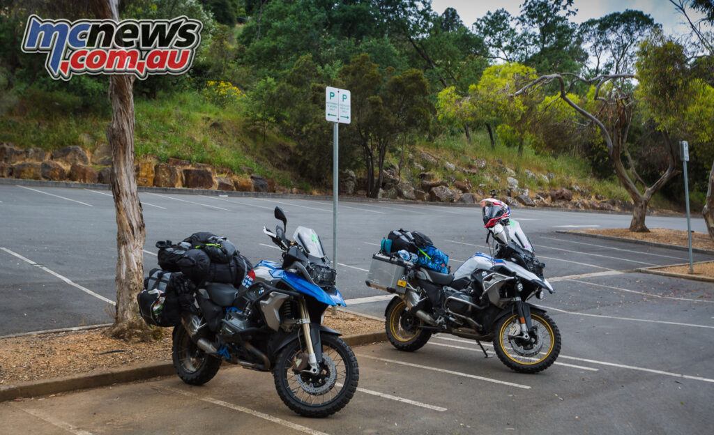 Petra and Jamie were BMW mounted for their trip, on a 1200 Rallye X and 1250 HP Rallye