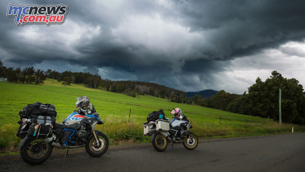 Riding into a storm front