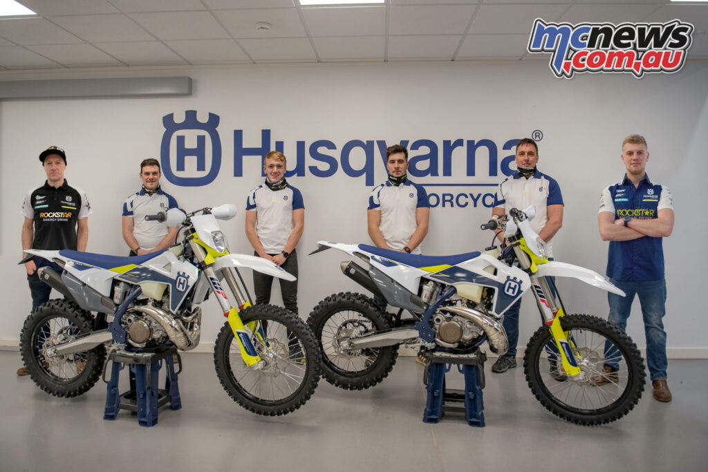 Graham Jarvis launched his Jarvis Husqvarna Racing Team with Husqvarna support