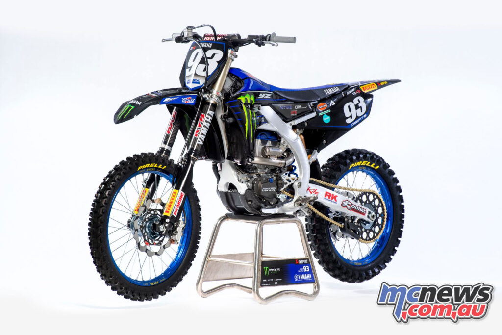 Jago Geerts's 2021 Monster Energy Yamaha Factory MX2 YZ250FM