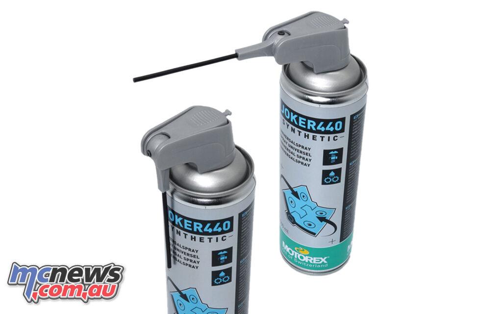 The MOTOREX Joker440 Spray with adjustable nozzle