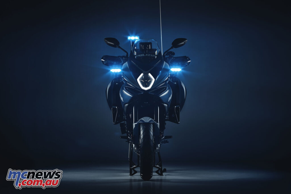 MV Agusta handed over the Polizia edition of their Turismo Veloce Lusso SCS to the Milan Police