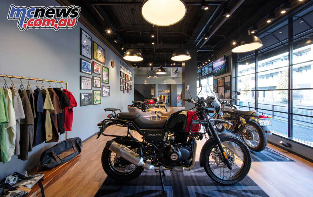 Inside the new Tokyo Royal Enfield store