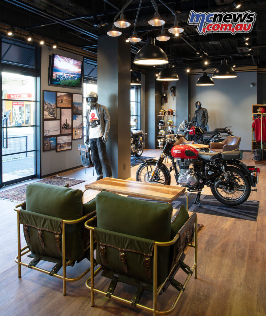 An easy-going Royal Enfield atmosphere keeps things casual
