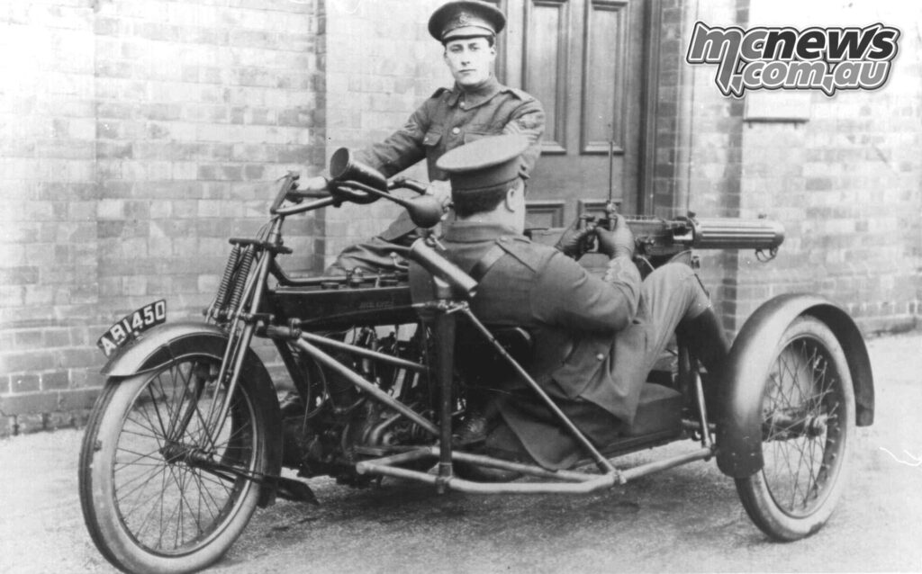 A WWI six-horsepower Royal Enfield machinegun outfit