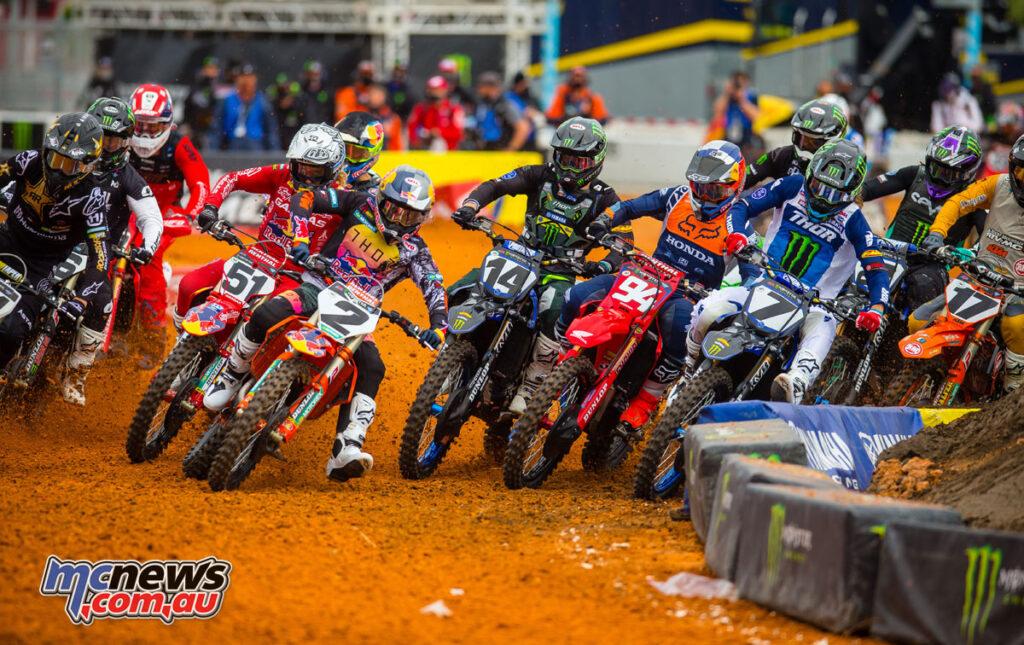 450SX Main Event Start - AMA SX Round 9 Daytona 2021