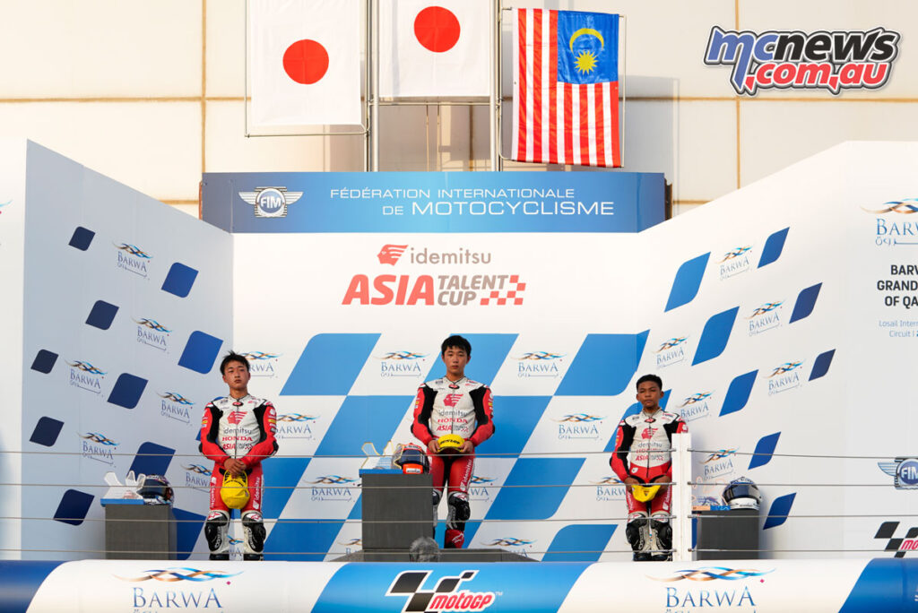 Race 1 podium - Asia Talent Cup 2021 - Losail Round 1