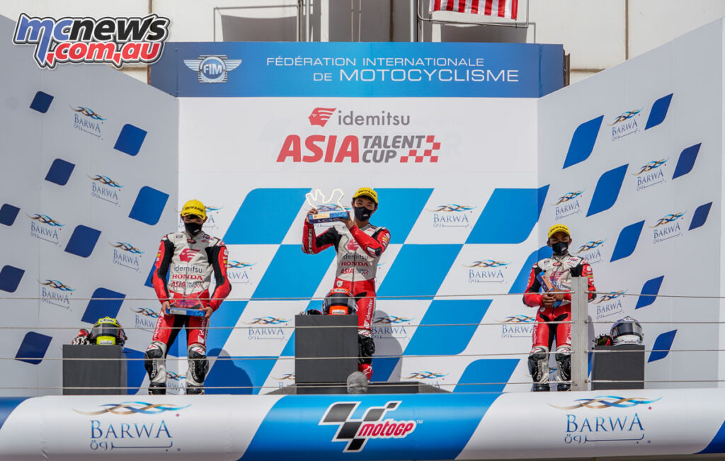 Race 2 podium - Asia Talent Cup 2021 - Losail Round 1