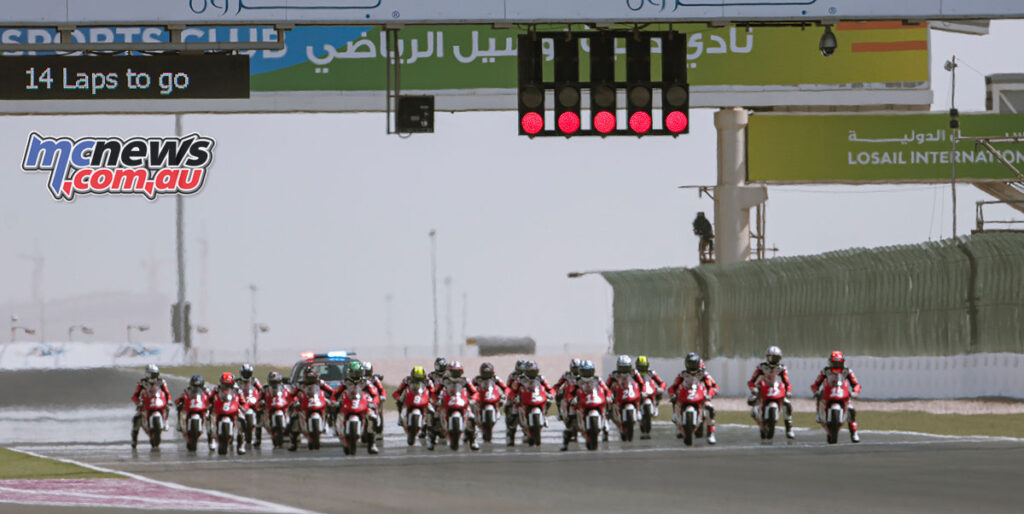 Race 2 Start - Asia Talent Cup 2021 - Losail Round 1