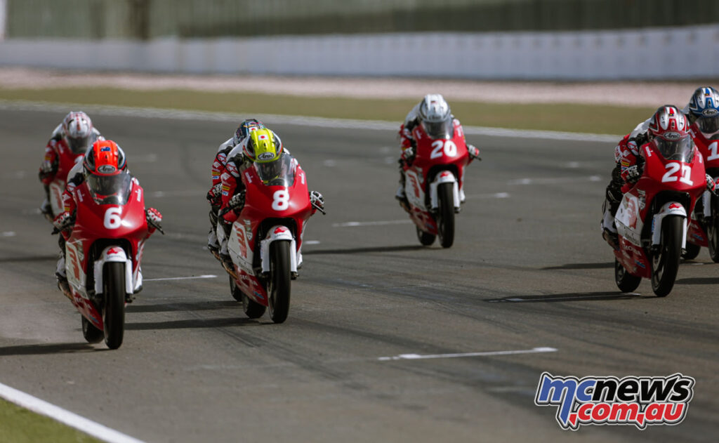Carter Thompson had a solid weekend running with the front-runners - Asia Talent Cup 2021 - Losail Round 1