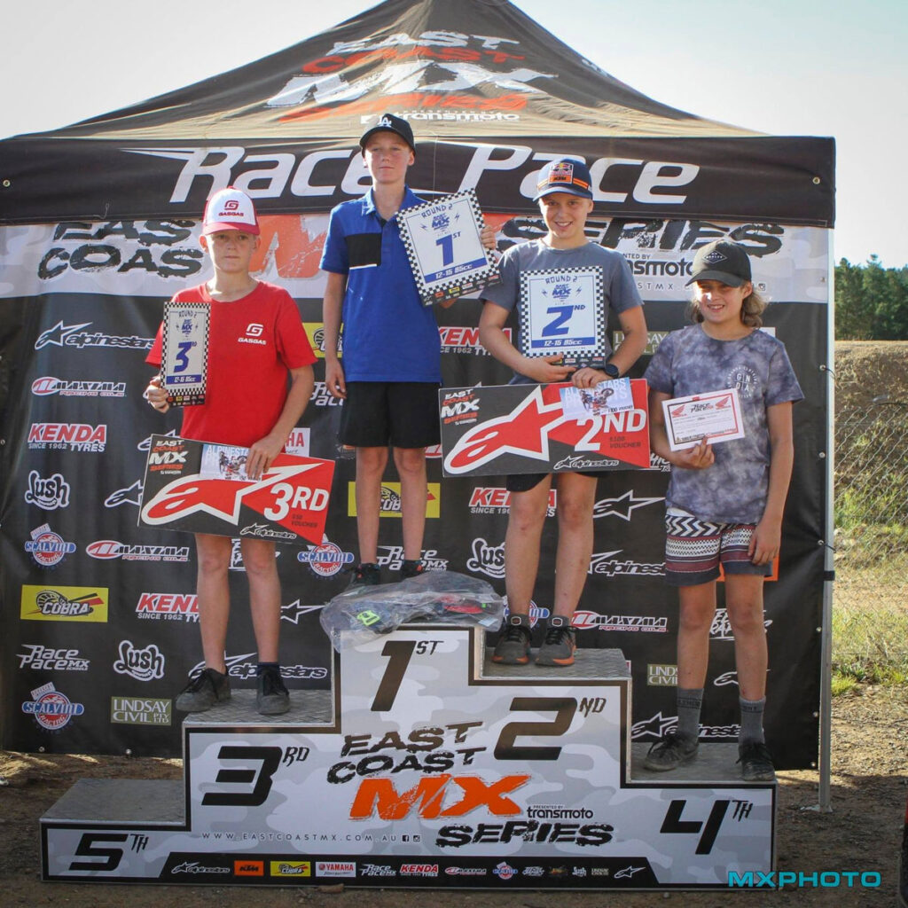 Junior round winners - 2021 East Coast MX Canberra - Image by MX Photo