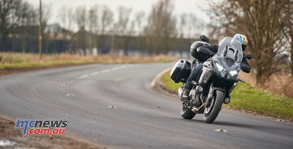 The Versys 1000 S is a big heavy bike but carries its weight well