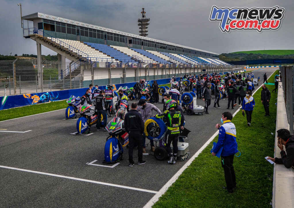 Looming clouds never eventuated into rain at the Jerez MotoE test