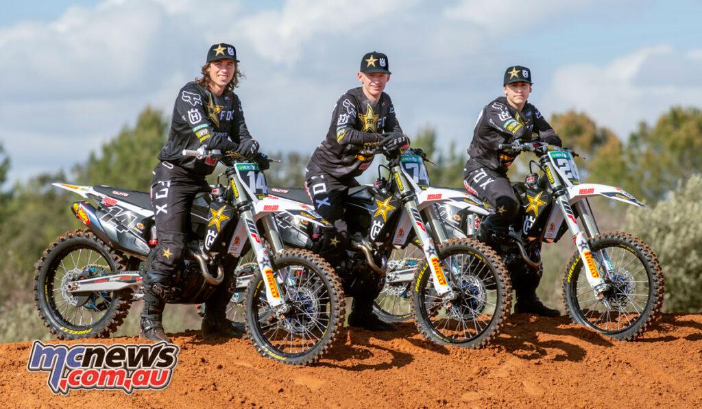 Rockstar Energy Husqvarna Factory Racing's Jed Beaton, Kay de Wolf and Maxime Grau